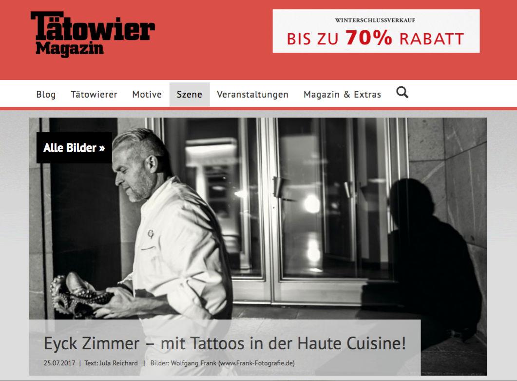 Tätowiermagazin Eyck Zimmer Chefkoch Adlon Florian Riffel Der Tätowierer