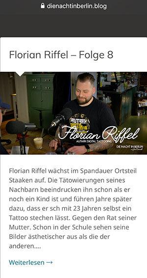 Die Nacht in Berlin Florian Riffel Der Tätowierer