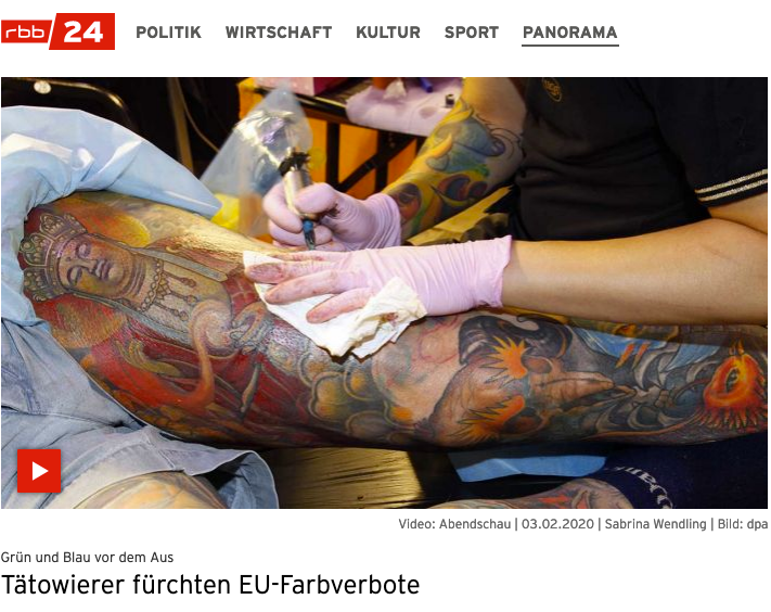 RBB ABENDSCHAU Tattoofarben Verbot Petition