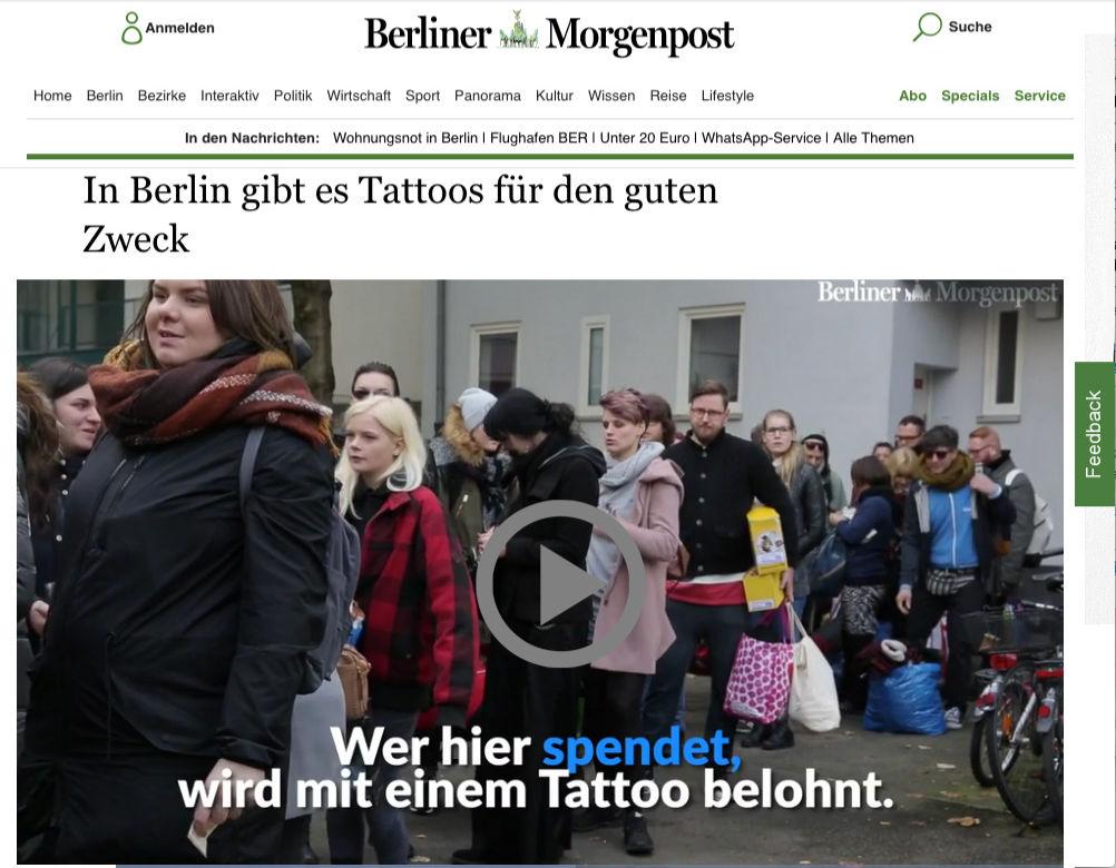 Berliner Morgenpost Interview Obdachlosenhilfe Berlin Florian Riffel Der Tätowierer