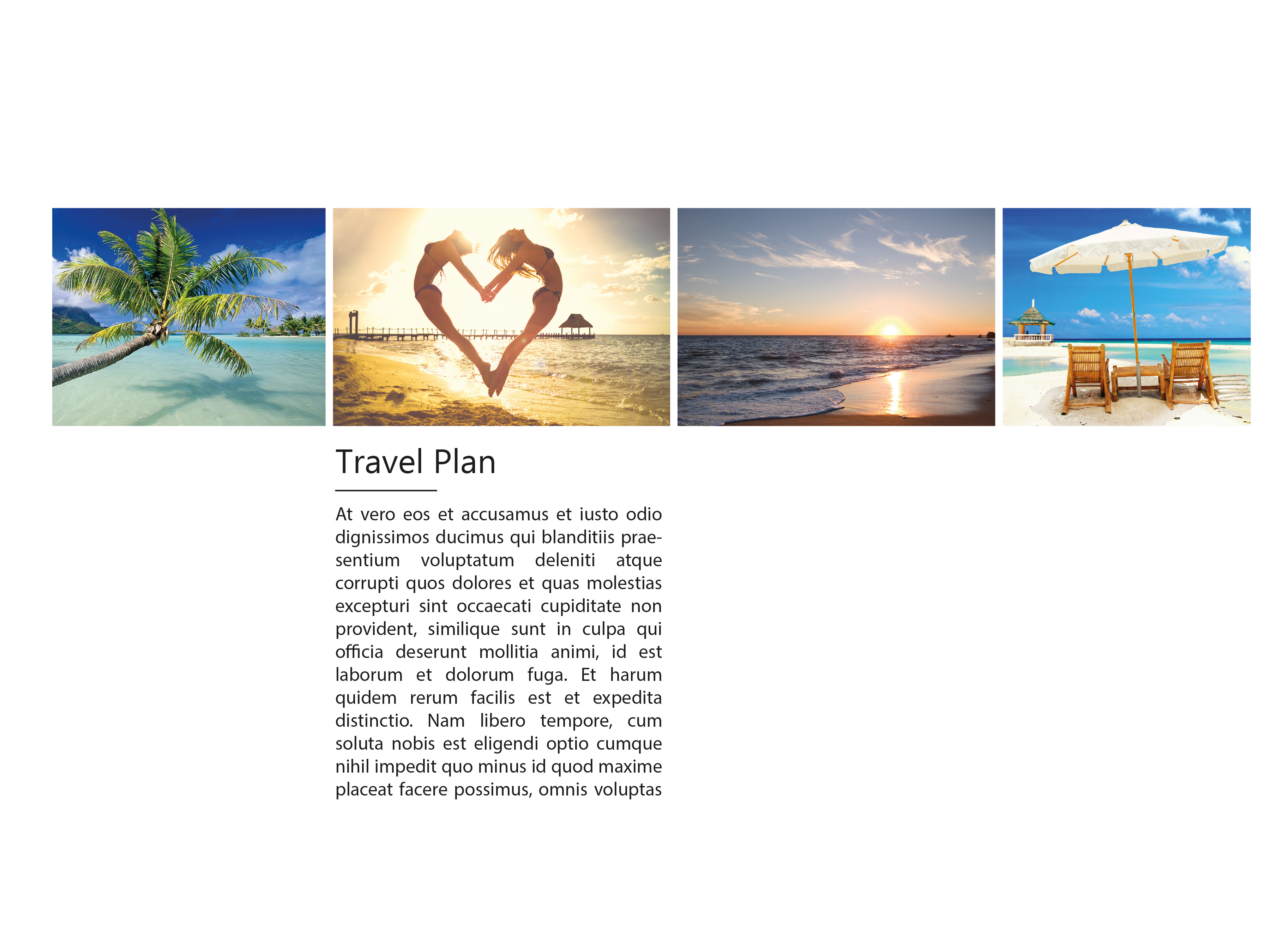 holiday brochure page