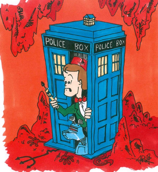 Doctor Who card humour