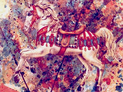 Das Zauberpferd  -Originallithographie-