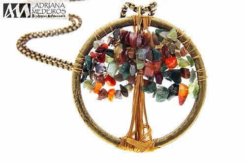 42155 Pingente Árvore da Vida, cor: Selva