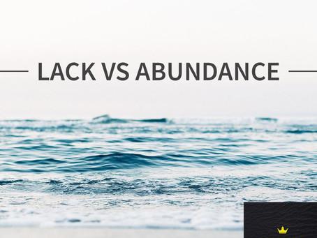 Lack Vs Abundance