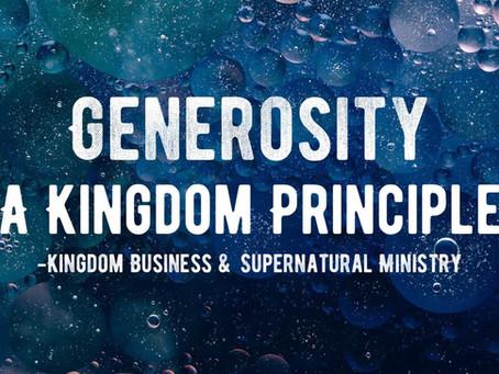 Generosity - a kingdom principle