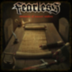 power metal band fearless chronicles of ancient wisdom album artwork front cover