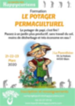 Affiche Potager Permaculturel mars 2020.