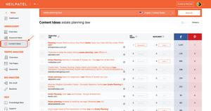 UberSuggest Engaging Blog Topics
