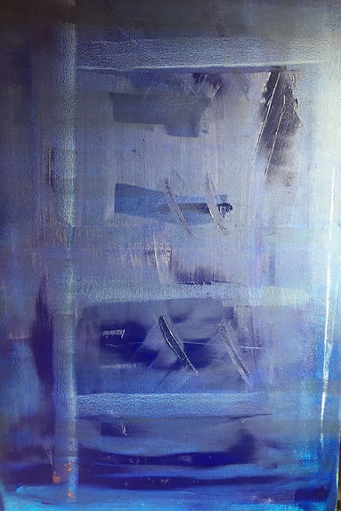 Composition in blue #3