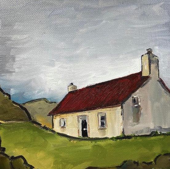 irish cottage painting