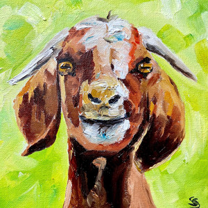 little goat painting