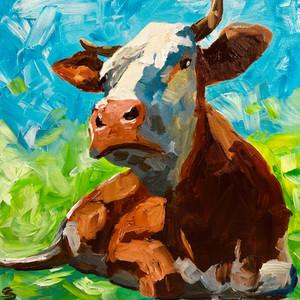 Very proud cow