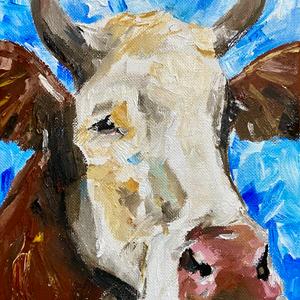 Cute Shy Cow