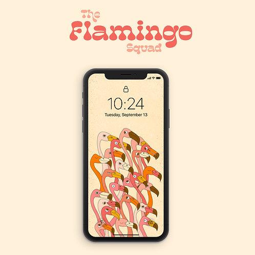 The flamingo squad (wallpaper)