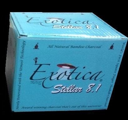 Exotica Stellar 8.1 Bamboo Charcoal 1.25kg 75pcs
