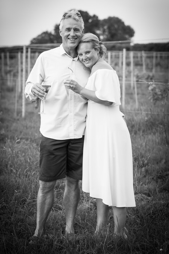 Devon black and white wedding photo