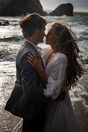 Poldark style elopement wedding photo