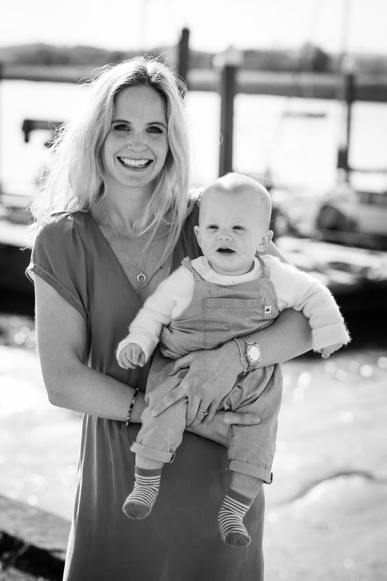 Devon baby and mum
