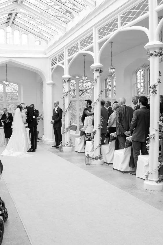 St Audries orangerie ceremony