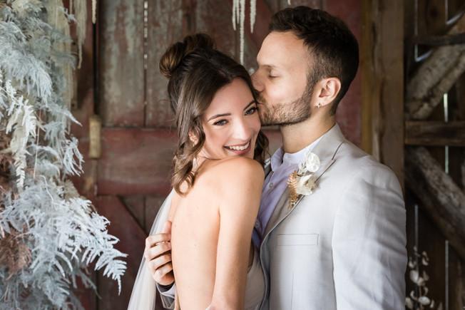 Happy Cornwall bride