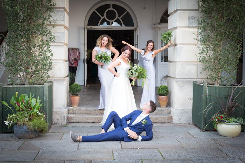 Exeter Castle bridesmaids and bridesman