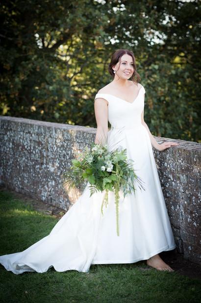 Exeter Castle ramparts bride