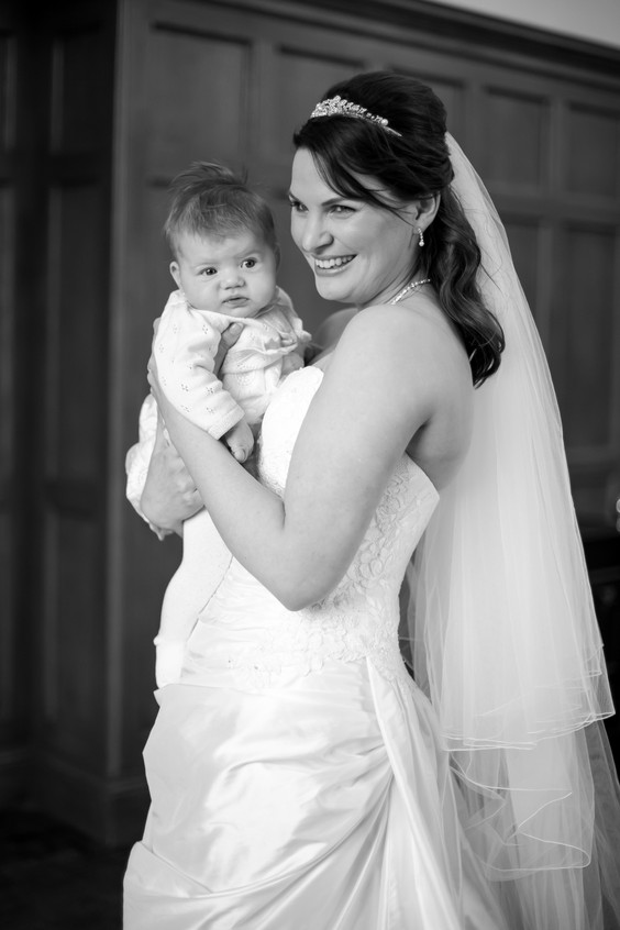 St Audries baby bridesmaid