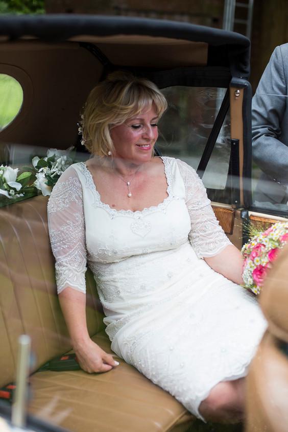 Devon bride on the way to the church