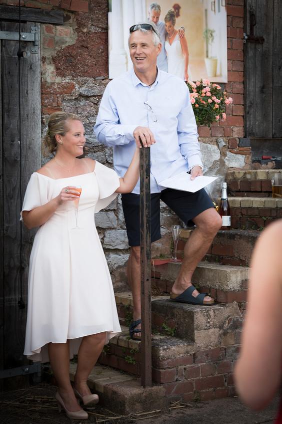 Farmyard wedding Devon