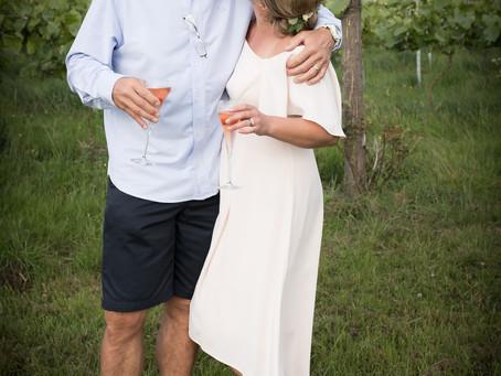 Devon wedding photographer: Wedding Party amongst the Pebblebed Vines!