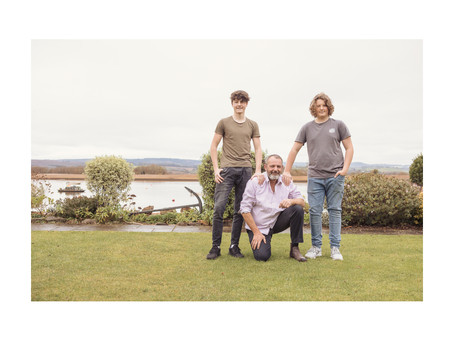 Devon photographer: Dad and Sons photoshoot in Topsham. Christmas gift for granny