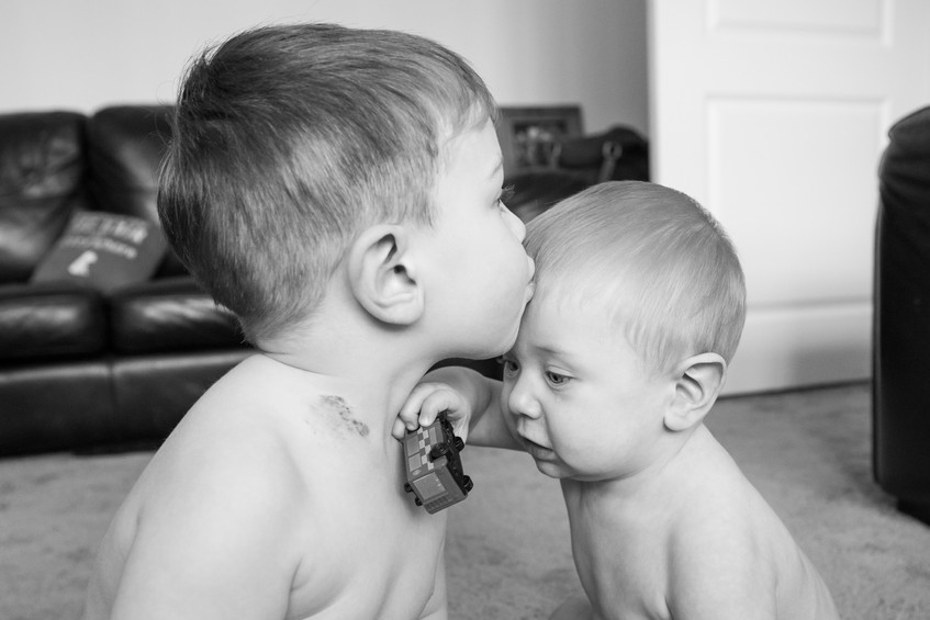 Kiss for the baby photo