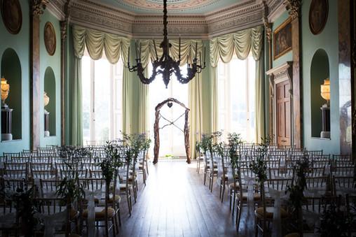 Powderham Castle ceremony room