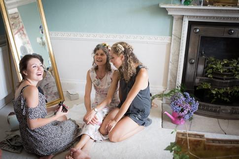 Powderham bridal suite preparations