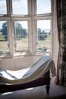 Powderham Castle grounds from the bridal suite window