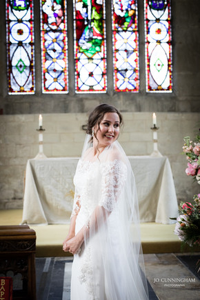 Bride in Tisbury Church