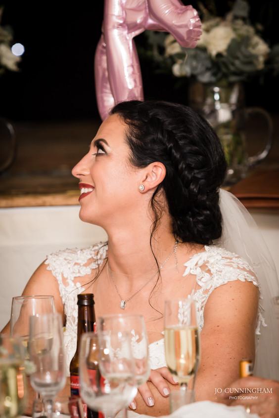 Bride looking lovingly