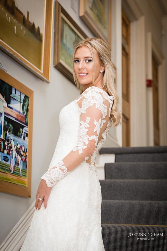 Deer Park staircase bride