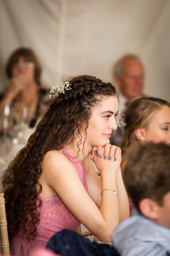 Beautiful bridesmaid in Devon