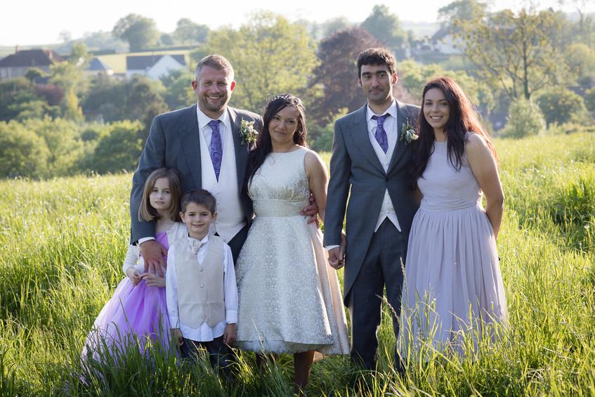 Devon wedding group photo