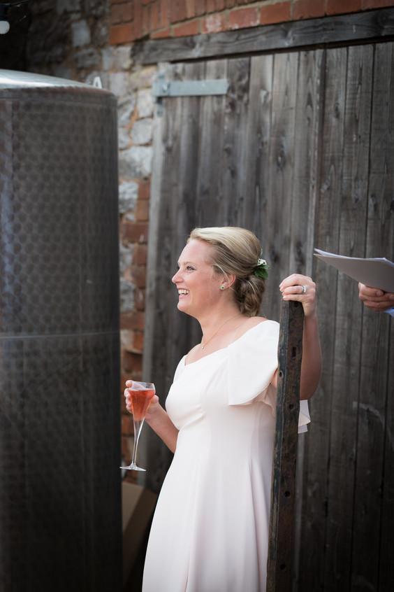 Happy bride Devon
