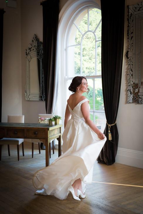 Exeter Castle twirling bride