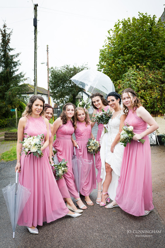 Wet weather brollies for the bride