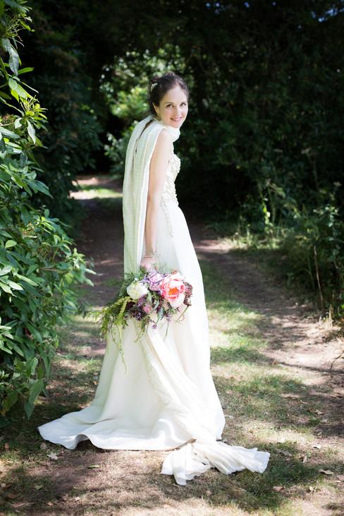 Powderham Castle American Garden Bride