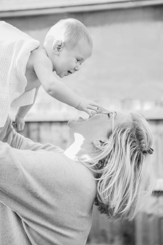 Photoshopped mum and baby Devon