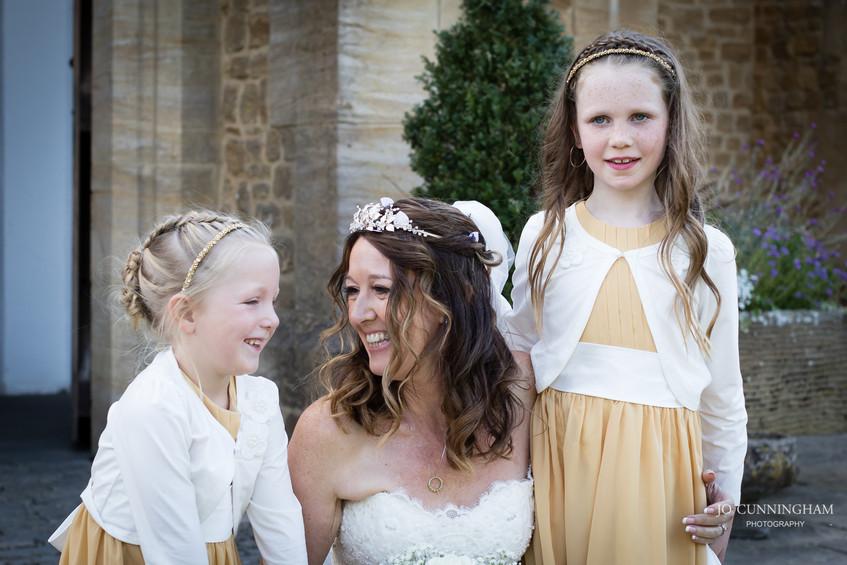 Haselbury bride and flower girls