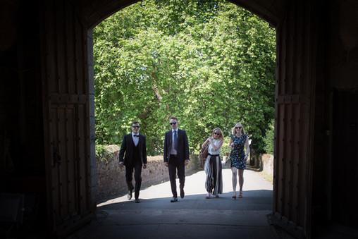 Powderham castle wedding guests