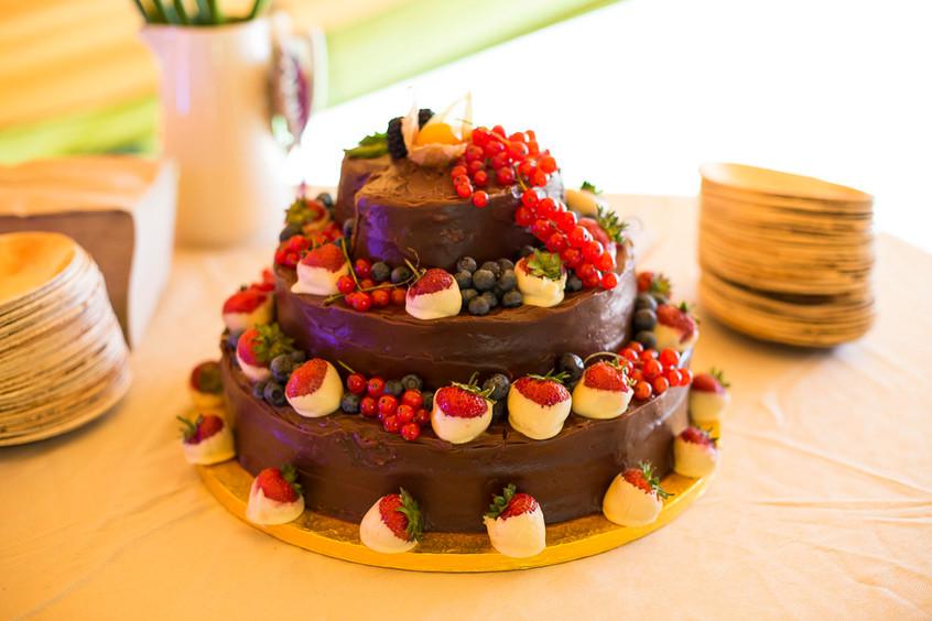 Devon wedding cake