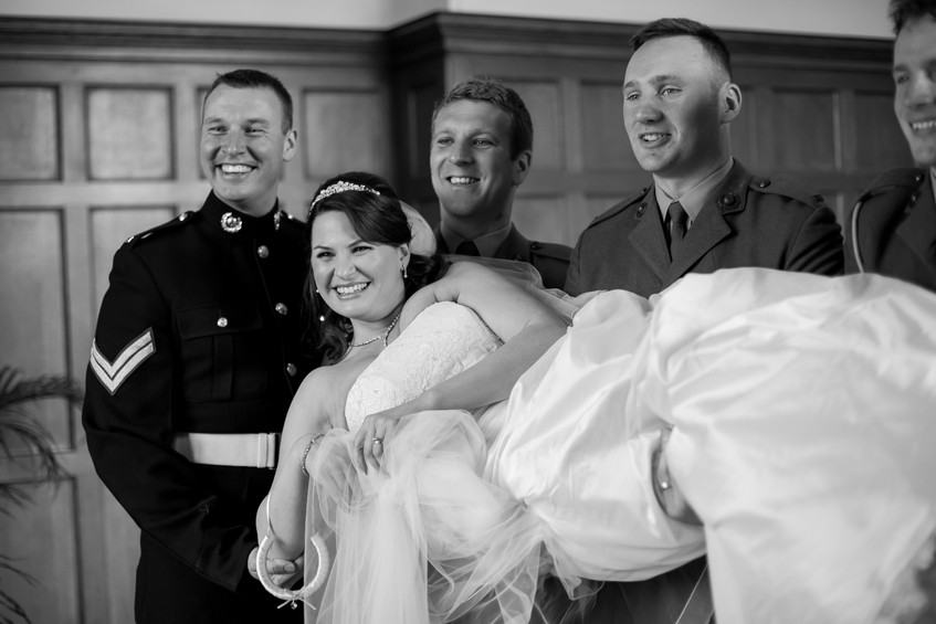 St Audries military wedding